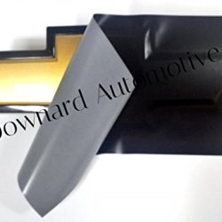 "Chevy Bowtie Emblem Vinyl Black Matte Decal (Overlay) You Cut From (2) 11"" X 4"" Universal Rectangular Sheets - Wrapping Instructions Included - Customize Your Silverado Camaro Cruze Equinox Etc."