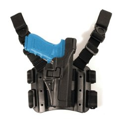Blackhawk! Serpa Level 3 Tactical Black Holster, Size 09, Right Hand (H&K Usp Compact / P2000 Euro)