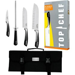 Top Chef(R) 5 Piece Stainless Steel Knife Set - Portable Top Chef(R) 5 Piece Stainless Steel Knife