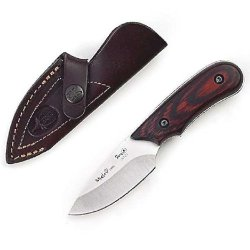 Muela Ibex Full Tang Skinner Knife 6.75-Inch, Coral Packawood Scales