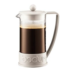 Bodum Brazil French Press Coffee Maker 8 Cup (1.0L / 34Oz) - Off White