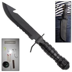 Pull The Pin Military Survival Knife