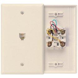 Leviton 40949-I Telephone Wallplate (Ivory) (40949-I) -
