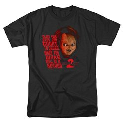 Childs Play 2 In Heaven - Short Sleeve Adult Tee Black T-Shirt-Medium