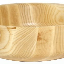 J.K. Adams Straight Sided Natural Ash Round Salad Bowl, 12-Inches By 4-Inches