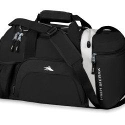 High Sierra Cross Sport Duffel Switch Blade Black, White