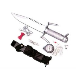 Fixed Blade Military Knife W/ Survival Kit Taiwan Made