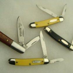 Vintage Lot Of 4 Mint Ranger + Colonial R.I Prov 2 Blade Knives Pocketknife,Knife,Sharp,Pocket Knives,Colonial Prov R.I 2 Blade,Mint Rare Knife Old Cutler Pocket Knife