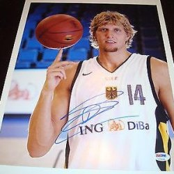 Dirk Nowitzki Autographed Photograph - Team Germany 11X14 1A - Psa/Dna Certified - Autographed Nba Photos