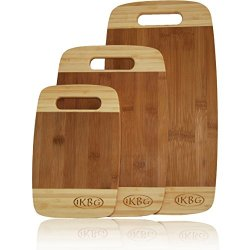 Bamboo Cutting Board Set - Premium 3 Piece All In One Pack - Strong And Durable Hard Wood That Is Kind To Your Knives - Eco Friendly And Bio Degradable Boards - The Best Investment You Can Make For Your Kitchen - 100% Replacement Guarantee
