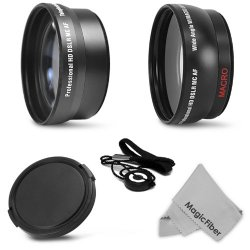 Essential Lens Kit For Canon Rebel (T5I T4I T3I T3 T2I T1I Xt Xti Xsi Sl1), Canon Eos (1100D 700D 650D 600D 550D 500D 450D 400D 350D 100D) Includes: 58Mm 2.2X Telephoto & 0.43X Wide Angle (W/ Macro Portion) High Definition Lenses + 58Mm Snap-On Lens Cap (