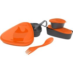 Light My Fire 6-Piece Bpa-Free Lunch Kit With Plate, Bowl, Storage Boxes And Spork, Orange