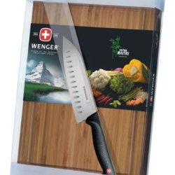 Wenger Grand Maitre Bamboo Board And Santoku Knife Set