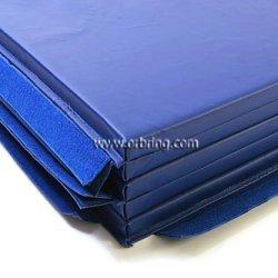 """Gymnastics Super Mat 2' Panel 5X10'X1-3/8"""" With Hook/Loop V-4 Blue"""