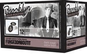 Brooklyn Bean Roastery, Single Serve Coffee Cup Fugge Daboutit, 12 KCups (Pack of 6)