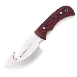 Muela Grizzly 9.25-Inch Full Tang Skinner With Gut Hook, Coral Packawood Handle