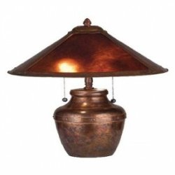 19 Inch H Amber Mica Table Lamp Table Lamps