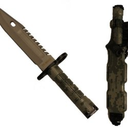 Ultimate Arms Gear Tactical Limited Edition Acu Army Digital Camo Camouflage Stainless Steel Special Forces Series M9 M-9 Military Sawback Survival Blade Bayonet Knife With Tactical Sheath Scabbard
