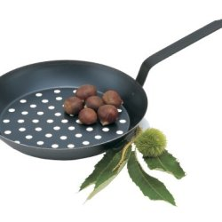 Paderno Black Carbon Steel 11 Inch Chestnut Pan