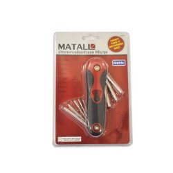 Siammatall Multifunction Tool - Folding Hex Key Wrench Ball End Hex Key Set, Metric, 8-Piece