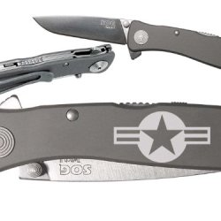 Army Old Logo Custom Engraved Sog Twitch Ii Twi-8 Assisted Folding Pocket Knife By Ndz Performance