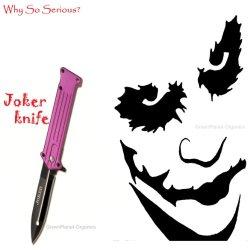 "Ladies Joker Pink Folding Knife (4.5"" Closed, 8.5"" Open, 3.5"" Blade)"