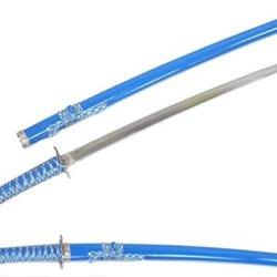 "40"" Sky Navy Blue Dragon Ninja Samurai Warrior Warlord Katana Sword"