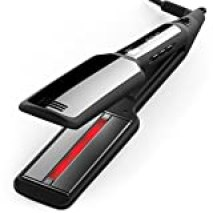 Xtava Professional Infrared Flat Iron with Tourmaline Ceramic Plates, Silk Edition, Black