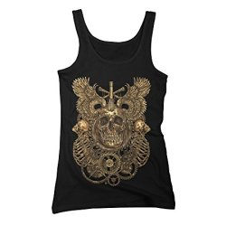 Death Gears Women'S X-Large Black Graphic Tank Top - Design By Humans