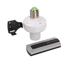 Generic Ac 220V Wireless Remote Control E27 Screw Light Lamp Bulb Holder Socket Switch