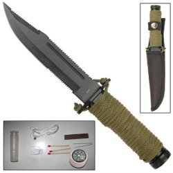 Mini Olive Drab Paracord Outdoor Survival Knife