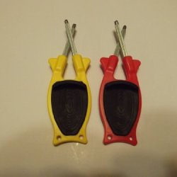 Get 2 New Style 2014 (Block Sharpeners) 1Yellow & 1Red With Our New Patened Black Anti-Slip Grip.