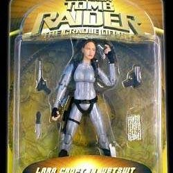 "Lara Croft Toamb Raider, The Cradle Of Life: Lara Croft In Wetsuit, 6.75"" Poseable Figure With Knife And Guns"