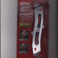Combination Utility Knife With Standard Blade On One Side And Hook Blade On Opposite Side