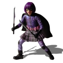 Kickass Mezco Toyz 7 Inch Action Figure Hit Girl Includes Swords Butterfly Knife