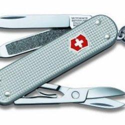 Victorinox Swiss Army Classic Sd Pocket Knife (Silver Alox)