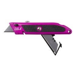 Cala Tools Kde1Uk Utility Knife With Replacement Blades, Pink
