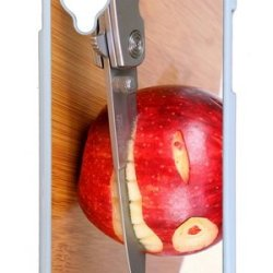 Google Nexus 5 Case,Mokshop Adorable Funny Apple Knife Hard Case Protective Shell Cell Phone Cover For Google Nexus 5 - Pc White