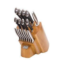 Chicago Cutlery 1119644 Fusion 18-Pc Stainless Steel Grind Edge Block Knife Set