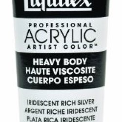 Liquitex Professional Heavy Body Acrylic Paint 2-Oz Tube, Iridescent Rich Silver