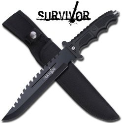Tactical Combat Hunting Knife With Glass Breaker