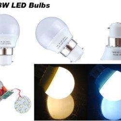 Secst Bayonet Cap Led Globe Bulb Ball Lamp Light Spotlight B22 3W 230V Color Warm White