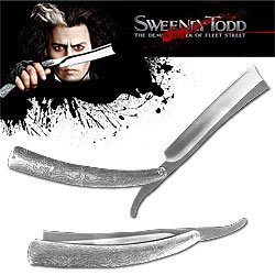 Huge 10.5 Inch Sweeney Todd Replica Straight Razor Knife