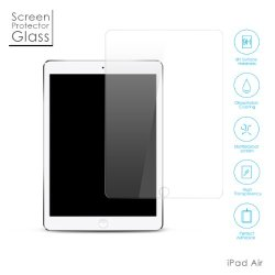 Ipad Air 2 / Ipad Air Tempered Glass Screen Protector, Aukey? Premium 0.26Mm Tempered-Glass Screen Protector For Ipad Air, Ipad Air 2, Crystal Clear, High-Response Touch, Ultra Slim, Anti-Scratch, Anti-Fingerprint, Bubble Free, Explosion-Proof And Pressur