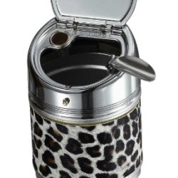 "Visol Products Vash226 ""Cylinder"" Animal Print Cigarette Ashtray, Stainless Steel"