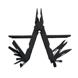 Sog Specialty Knives & Tools B61-L Power Lock Eod 2.0 Scissor Multi Tool With Half Serrated Steel Blade 22-Tools Combined, Black Oxide Finish