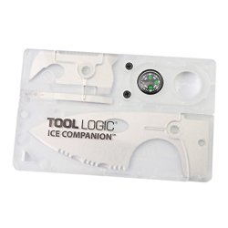 Great Value Knives & Tools Tool Logic Ice Companion Card Knife With Lens / Compass Translucent