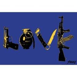(13X19) Steez Love - Navy Art Poster Print
