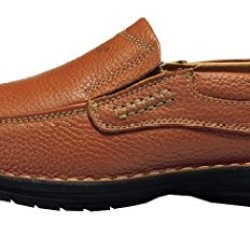 Index Men'S Leather Oxford Business Dress Slip-On Shoes(8D(M)Us,Brown)