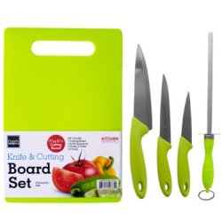 Handy Helpers Bulk Buys 5-Piece Knife/Cutting Board Set